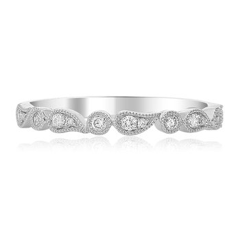 Paisley White Gold & Diamond Band