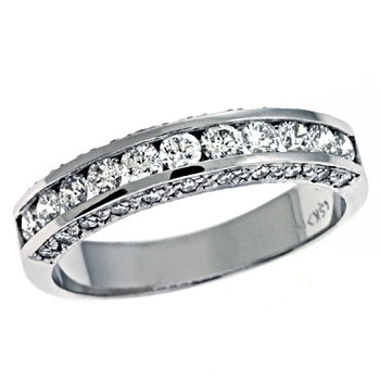 Pave White Gold Diamond Band