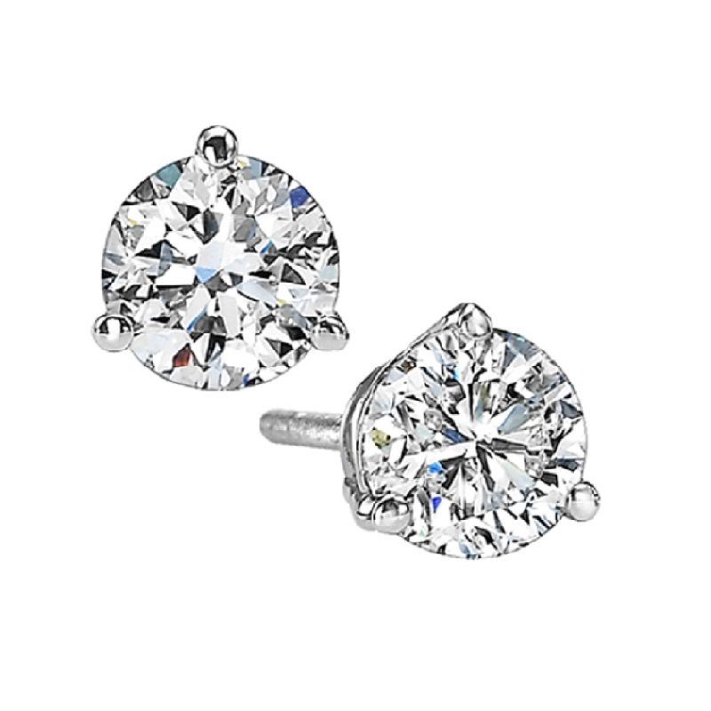 Gems One Diamond Stud Earrings in 18K White Gold (1 1/4 ct. tw.) SI2 - G/H