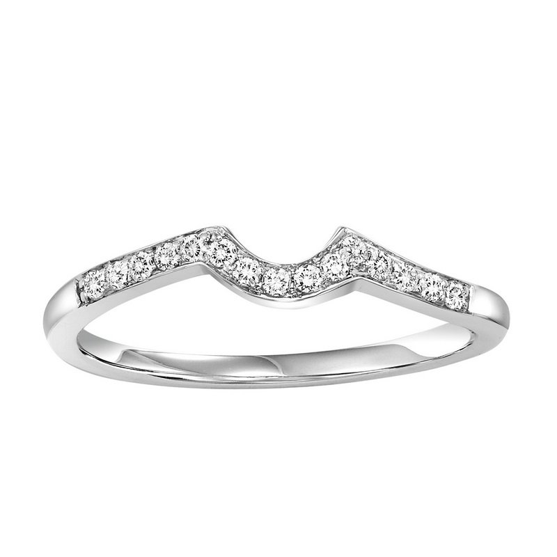 Twogether 14K Diamond Two Stone Ring 1/5 ctw