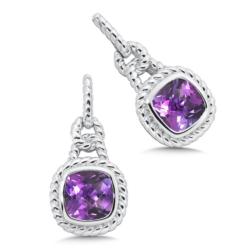 Colore Sg Sterling Silver Amethyst Post Earrings