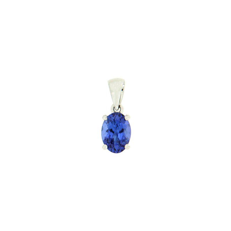 Paragon Fine Jewellery 14k White Gold Pendant with Tanzanite