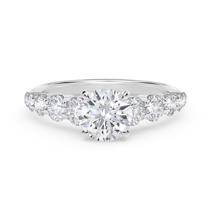 Forevermark Engagement and Commitment Forevermark Icon™ Setting Round Engagement Ring with Graduated Diamond Band