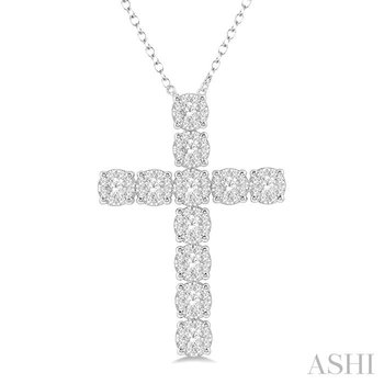 lovebright essential diamond cross pendant