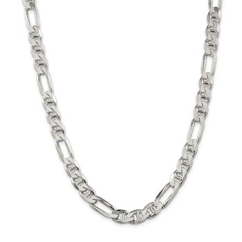 Sterling Silver 8.75mm Figaro Anchor Chain