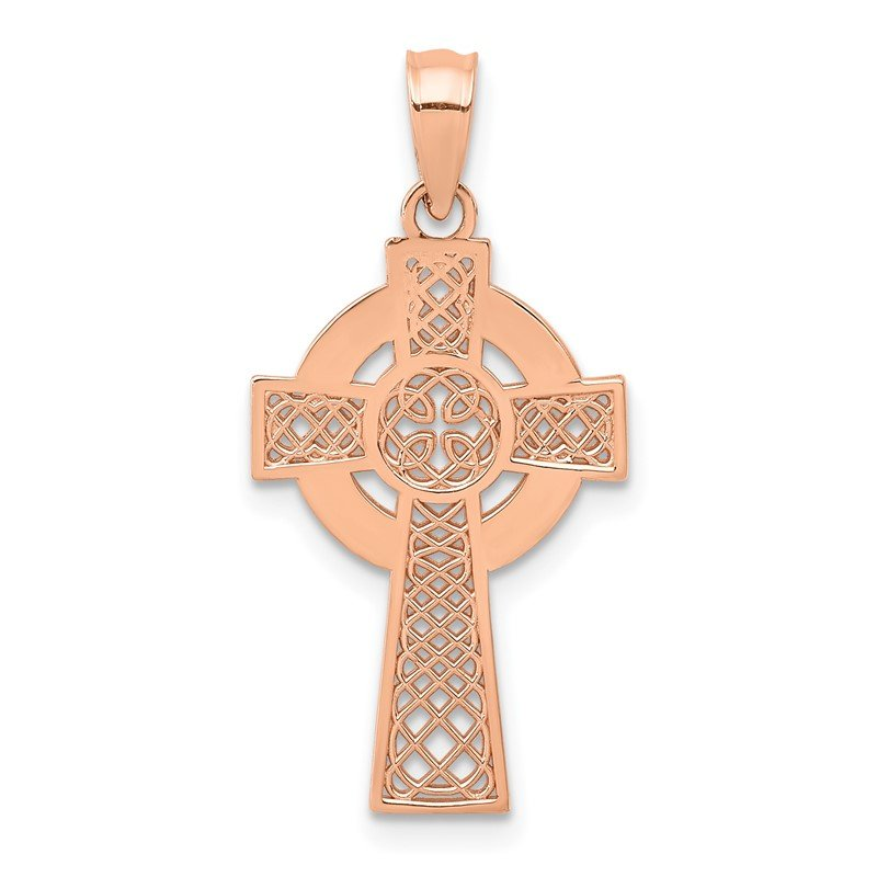 Arizona Diamond Center Collection 14k Rose Gold Celtic Cross Pendant