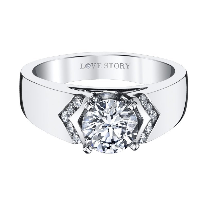 Love Story Wide Band Engagement Ring by Love Story