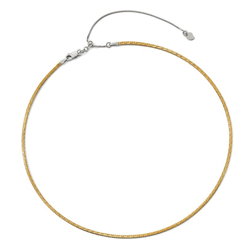 Leslie's Leslie's 14K Two-tone D/C Reversible 2mm Adjustable Omega Necklace