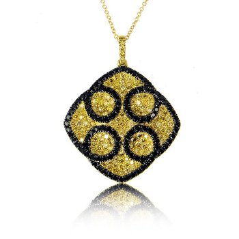 Gothica Black & Yellow Diamond Pendant