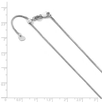 Leslie's 10K White Gold .9 mm Adjustable Box Chain