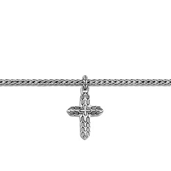 Classic Chain Cross Charm Bracelet in Silver