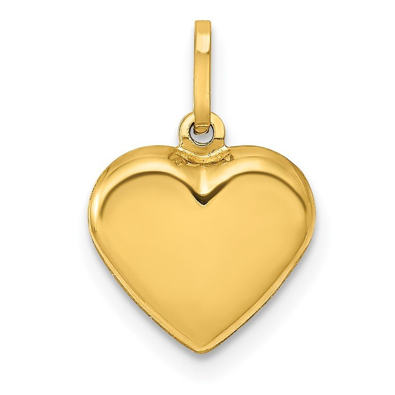 Lester Martin Online Collection 14K Polished 3-D Puffed Heart Pendant