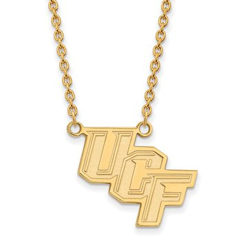 Gold University of Central Florida NCAA Necklace