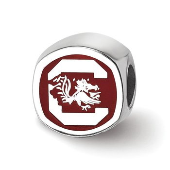 Sterling Silver University of South Carolina NCAA Bead