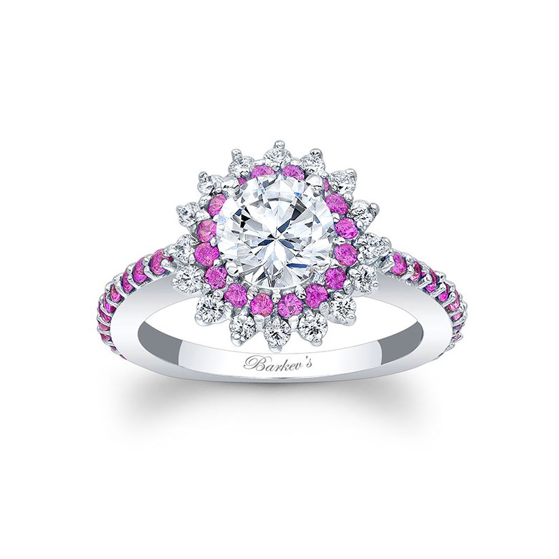 Barkev's Pink Sapphire Engagement Ring