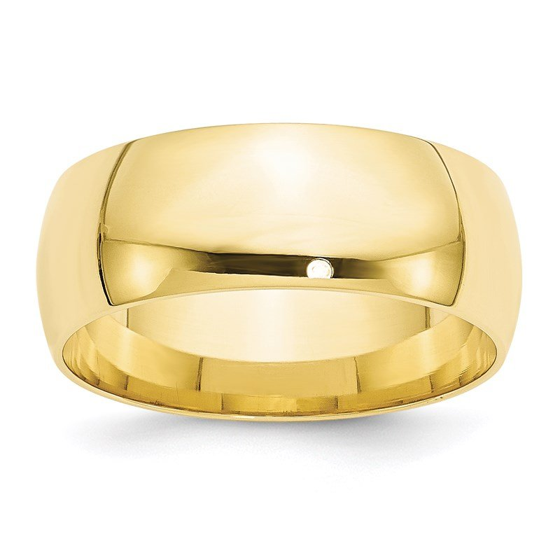 Quality Gold 10KY 8mm LTW Comfort Fit Band Size 10