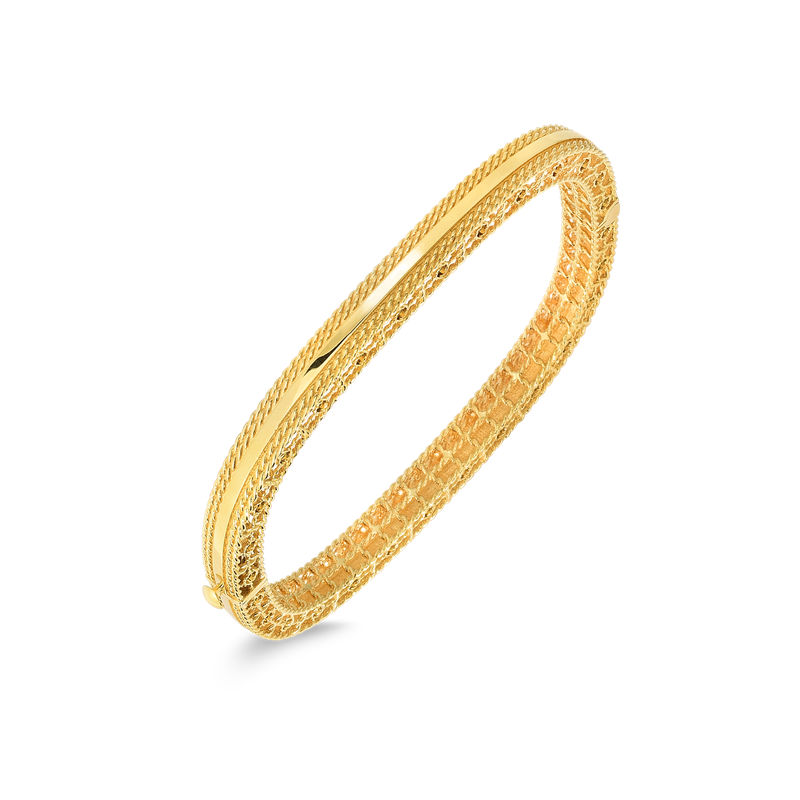 Roberto Coin Slim Bangle With Braided Edges
