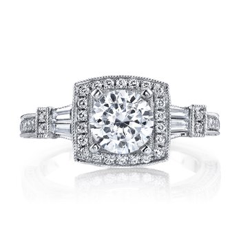 25223 Diamond Engagement Ring 0.64 ct rd 0.25ct bg