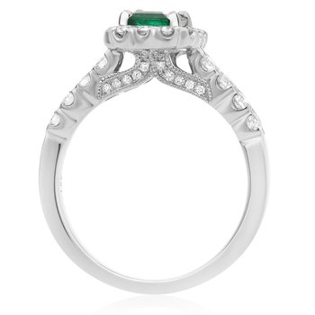 One Carat Emerald & Diamond Ring