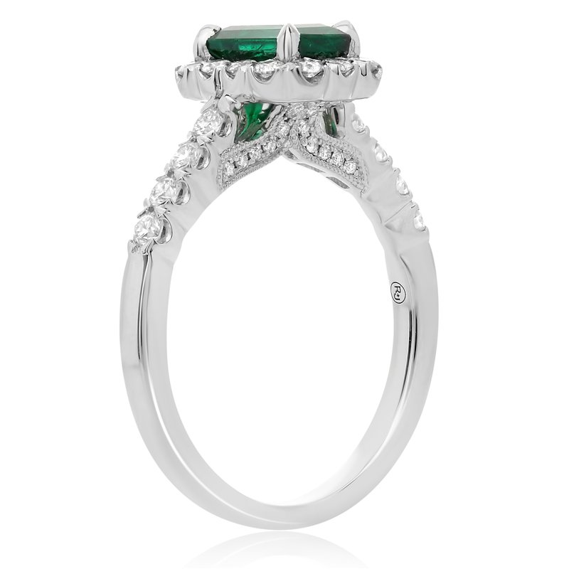 Roman & Jules One Carat Emerald & Diamond Ring