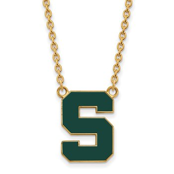 Gold-Plated Sterling Silver Michigan State University NCAA Necklace