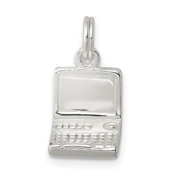 Sterling Silver Laptop Charm