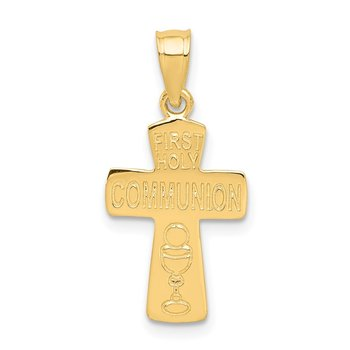 14k First Holy Communion Cross Pendant