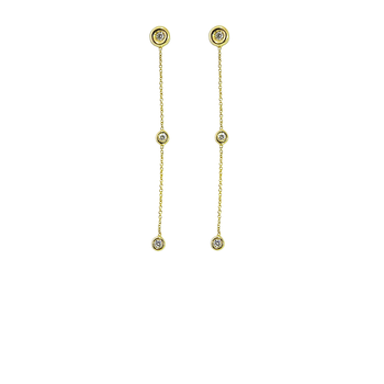 18KT GOLD DIAMOND DANGLING EARRINGS