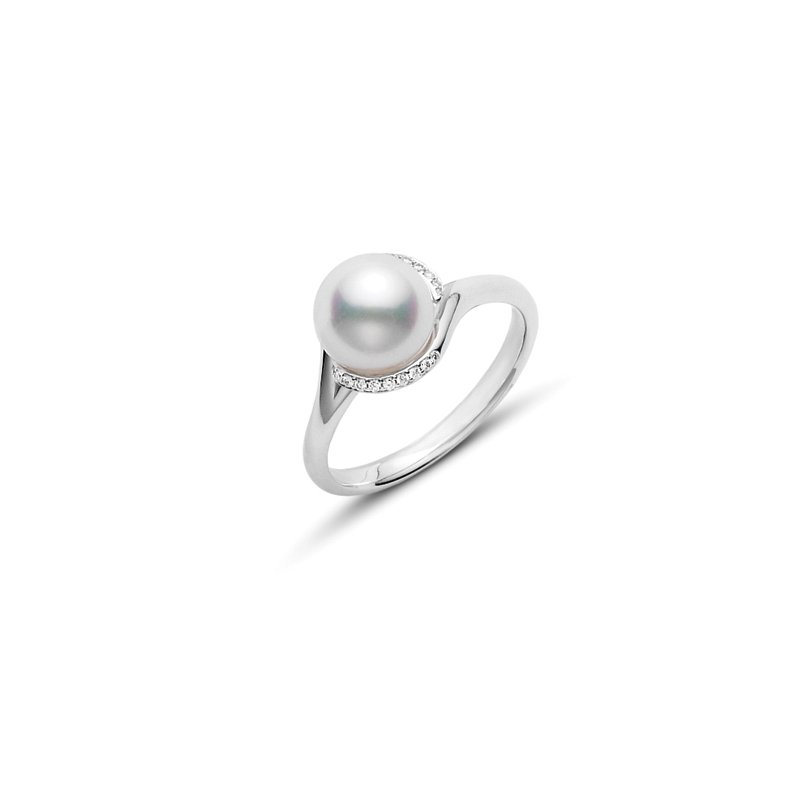 Mikimoto Twist Akoya Cultured Pearl Ring