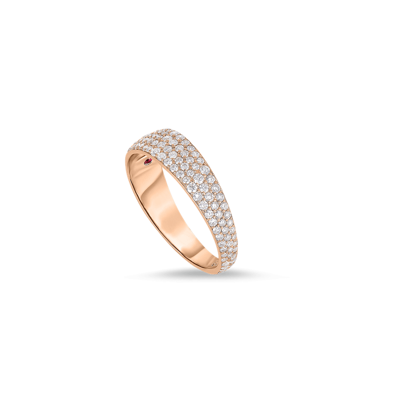 Roberto Coin Ring With Diamonds &Ndash; 18K Rose Gold, 8