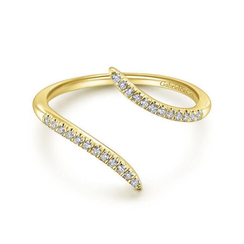 Amavida 14K Yellow Gold Open Wrap Diamond Ring
