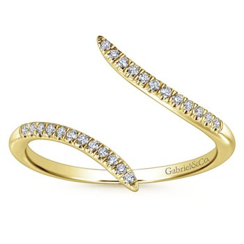 14K Yellow Gold Open Wrap Diamond Ring