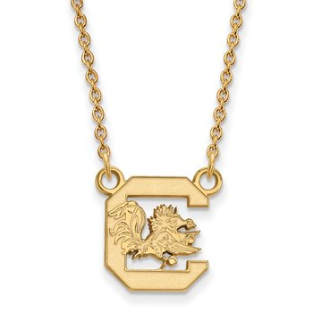 Gold University of South Carolina NCAA Necklace