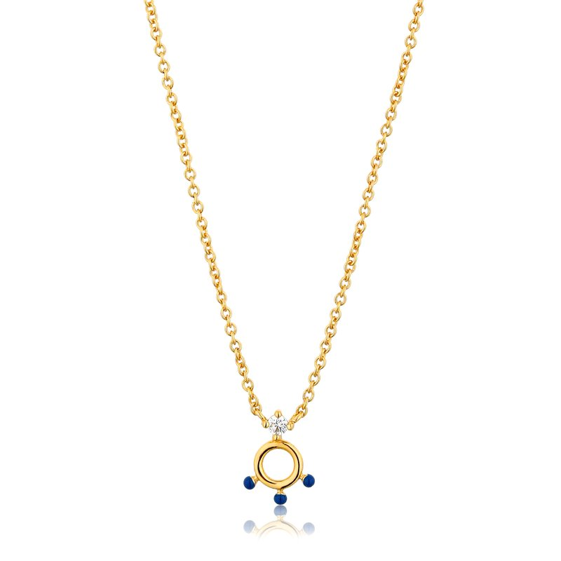 Ania Haie Dotted Circle Pendant Necklace