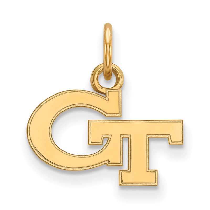 NCAA Gold-Plated Sterling Silver Georgia Institute of Technology NCAA Pendant