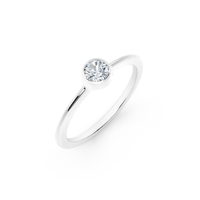 Forevermark Black Label The Forevermark Tribute™ Collection Classic Bezel Stackable Ring