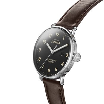 The Canfield 43mm Black Dial Mens Watch