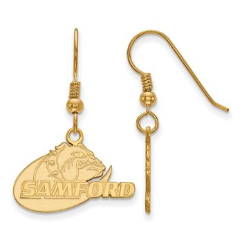 Gold-Plated Sterling Silver Samford University NCAA Earrings