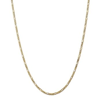 14k 2.75mm Flat Figaro Chain