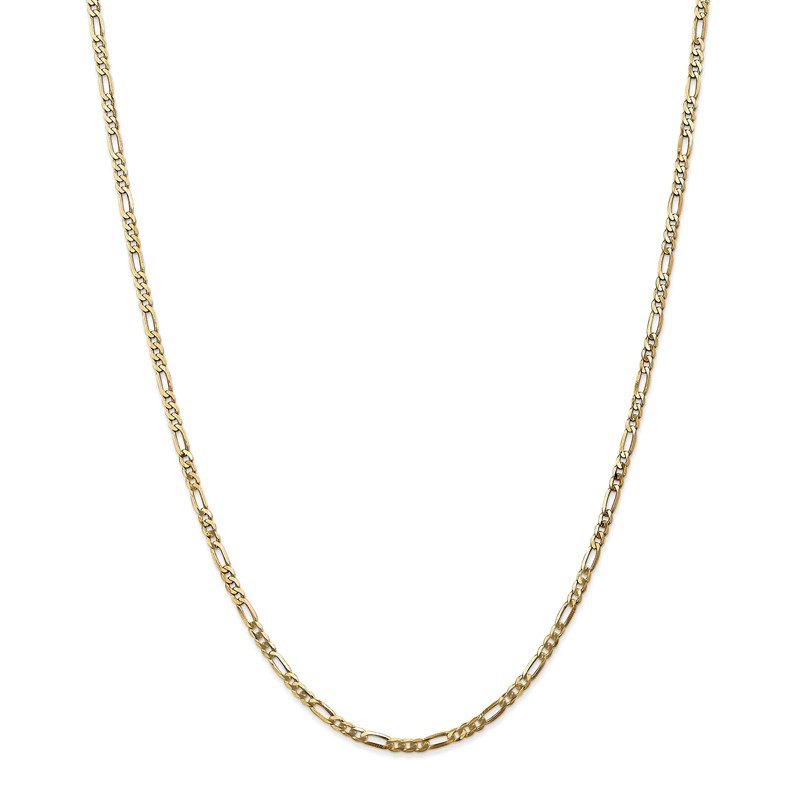 Quality Gold 14k 2.75mm Flat Figaro Chain