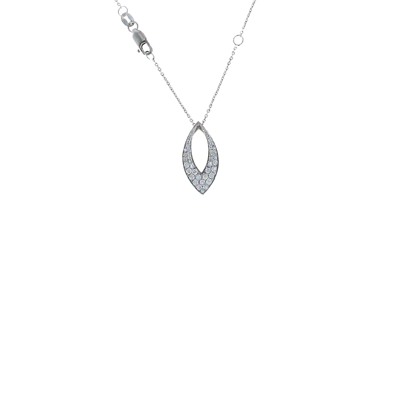 Roberto Coin 18KT WHITE GOLD DIAMOND DROP PENDANT