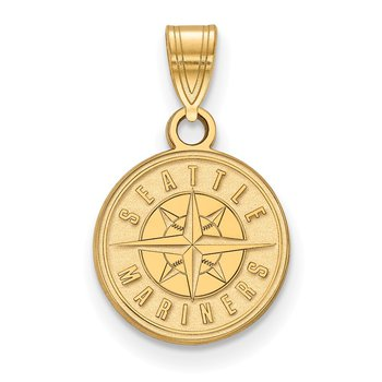 Gold Seattle Mariners MLB Pendant