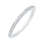 Promezza Round Diamond Half-Eternity Wedding Band In 14K White Gold