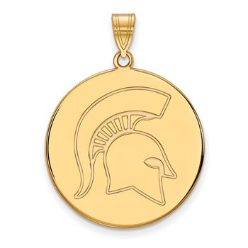 Gold Michigan State University NCAA Pendant