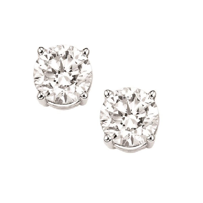 Gems One Diamond Stud Earrings in 18K White Gold (3/4 ct. tw.) I1 - G/H