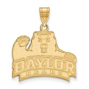 Gold-Plated Sterling Silver Baylor University NCAA Pendant
