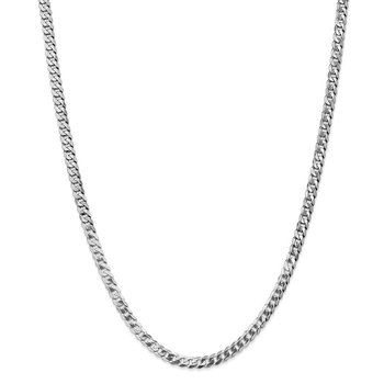 Leslie's 14K White Gold 4.5mm Flat Beveled Curb Chain