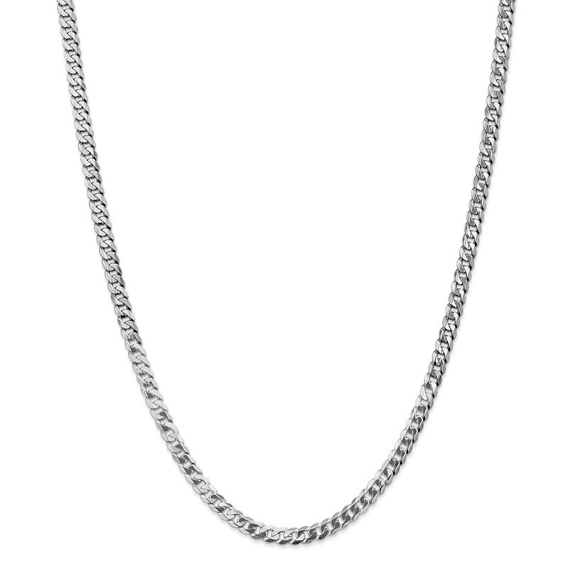 Leslie's Leslie's 14K White Gold 4.5mm Flat Beveled Curb Chain