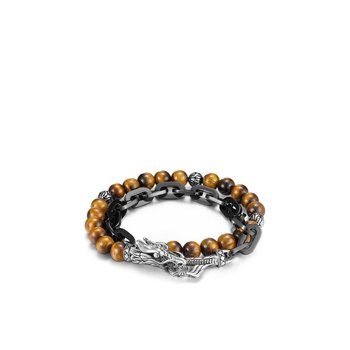 Legends Naga Wrap Bracelet, Silver, Stainless Steel, Gems