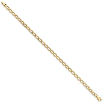 14K Gold Polished Open Link Bracelet